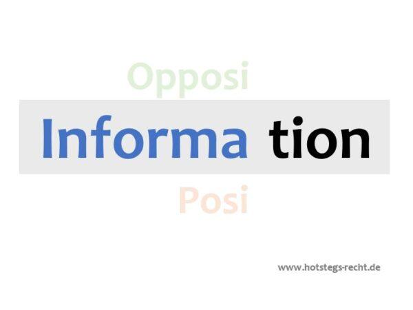 """""""Information für die Opposition?"""" – Workshop für Fraktionen, Gruppen, Parteien und Wählergemeinschaften"""